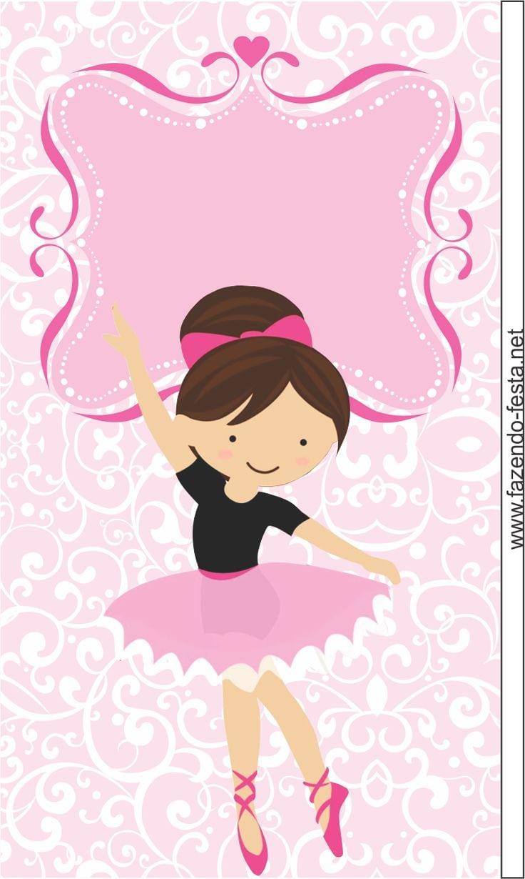 desenho de bailarina colorido para imprimir