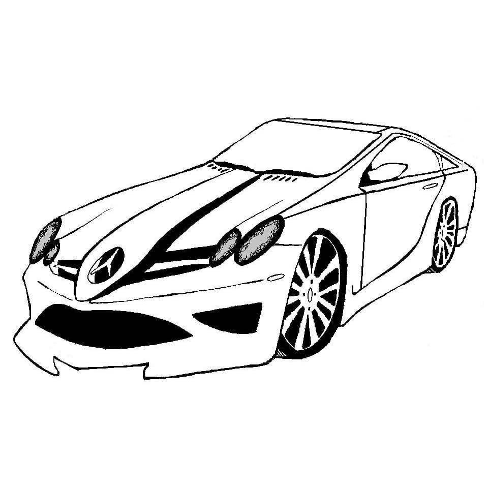 Desenho De Carro Do Velozes E Furiosos Para Colorir