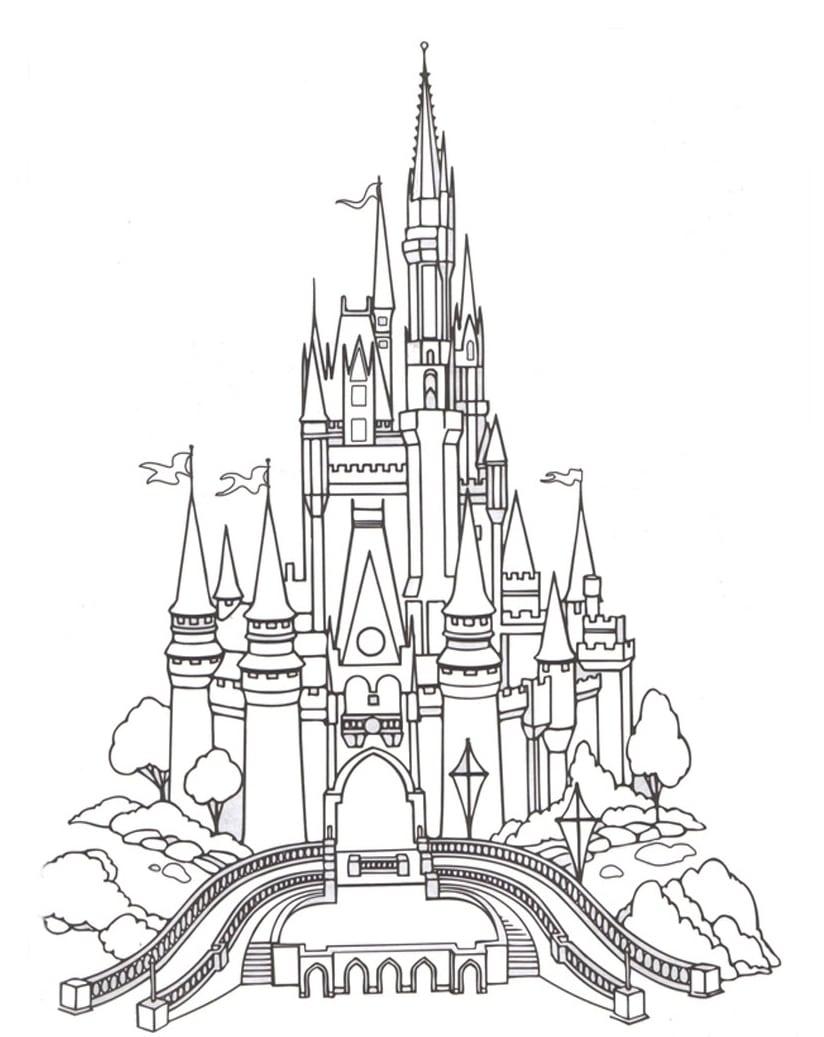 Desenho De Castelo De Diamante Para Colorir