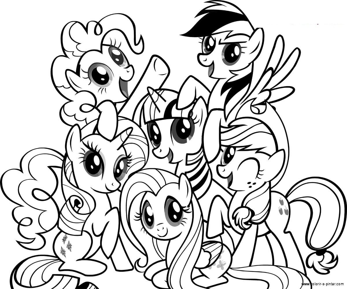Imagens Para Colorir My Little Pony