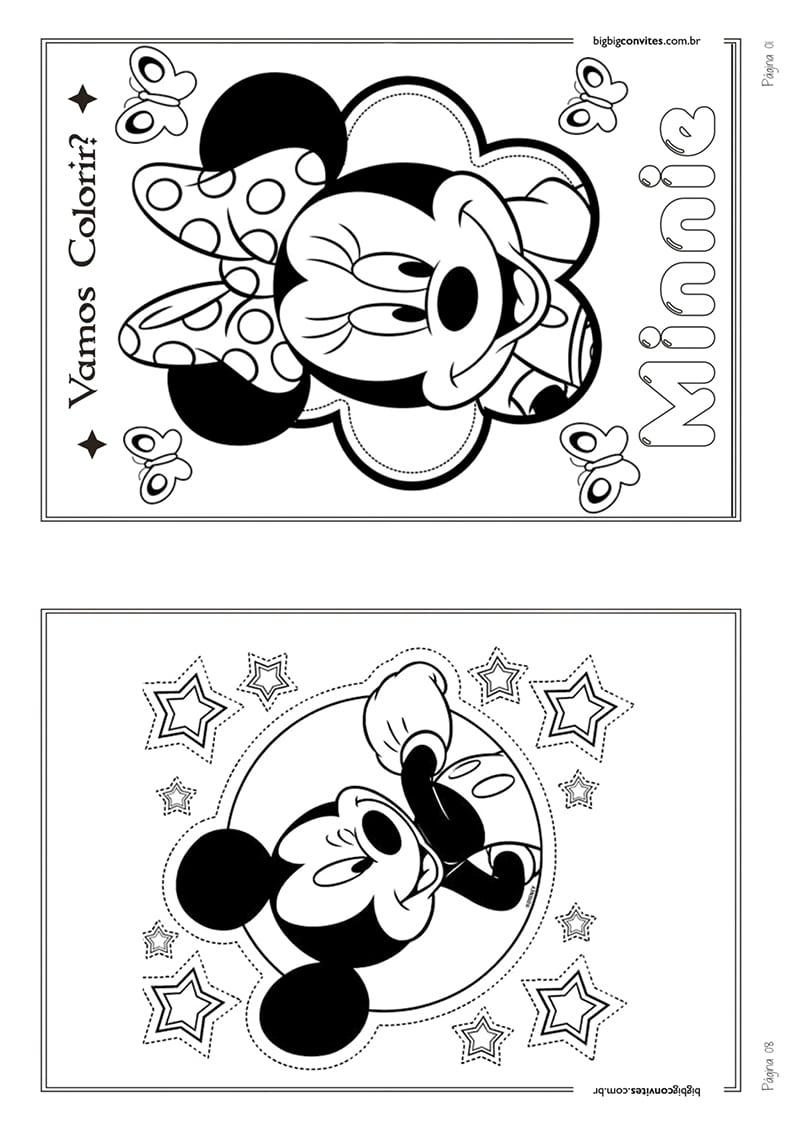 15 Desenhos Da Minnie Para Imprimir Colorido Melhores Casas De