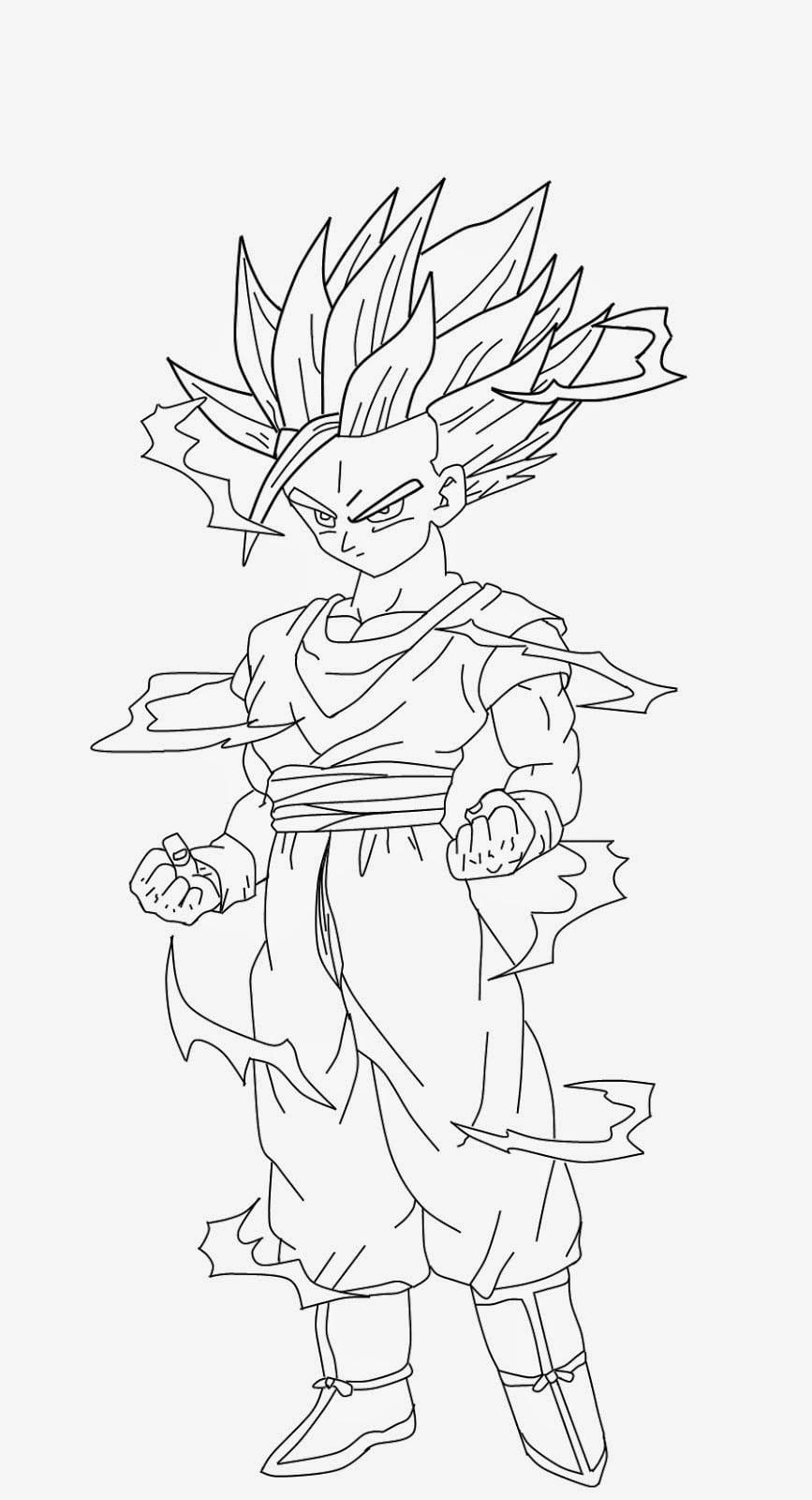 BaÚ Da Web  Desenhos De Dragon Ball Z Para Colorir, Pintar