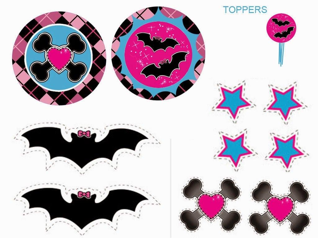 Monster High  Toppers Y Etiquetas Para Candy Bar Para Imprimir