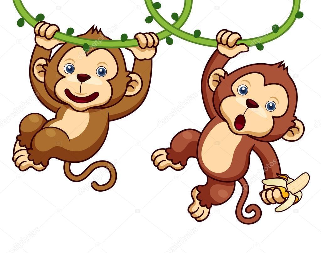 Animados De Macacos — Vetor De Stock  28768785