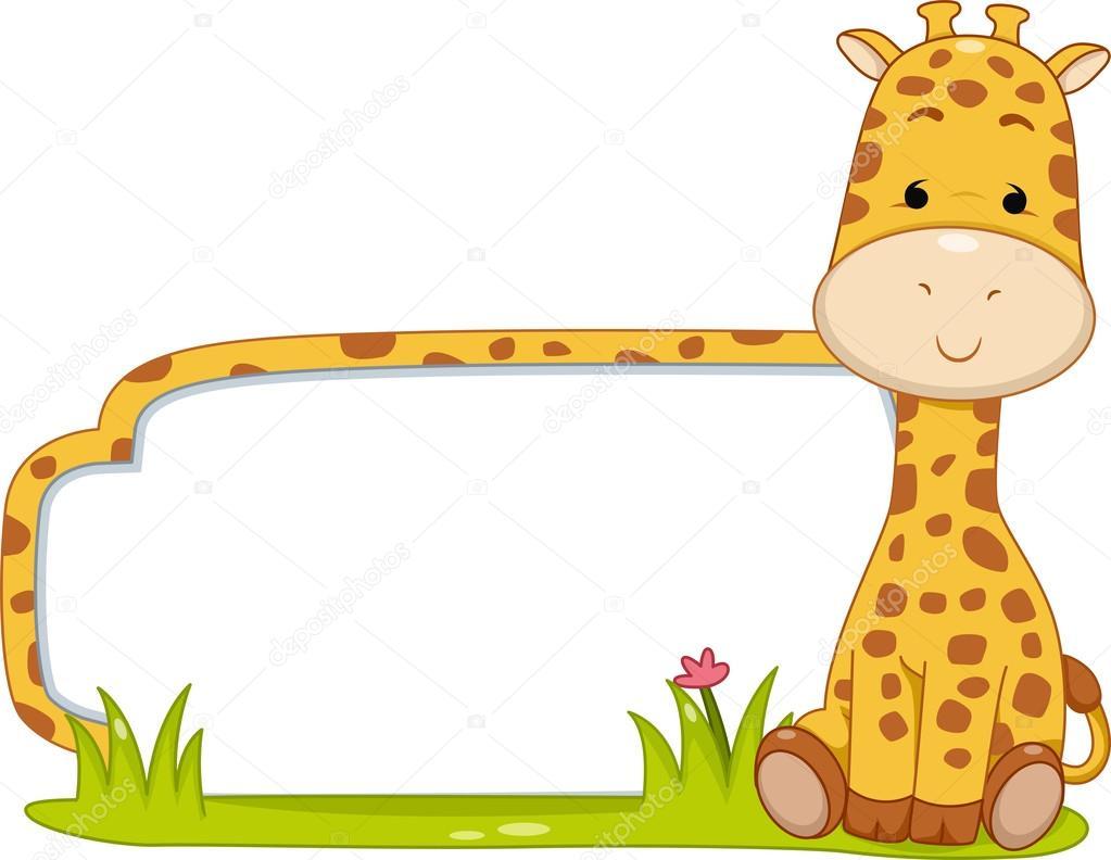 Girafa De Rótulo Do Safari — Fotografias De Stock © Lenmdp  46208729