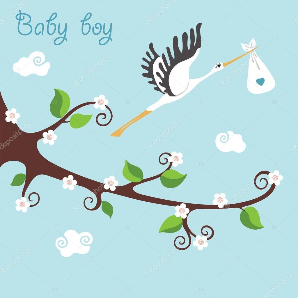 Cegonha Com Bebê Fotografias De Banco De Imagens, Imagens Livres