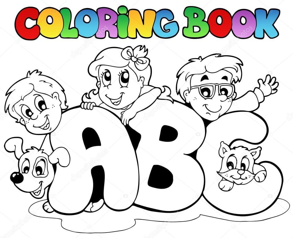 Cartas De Abc Escola Livro De Colorir — Vetores De Stock © Clairev