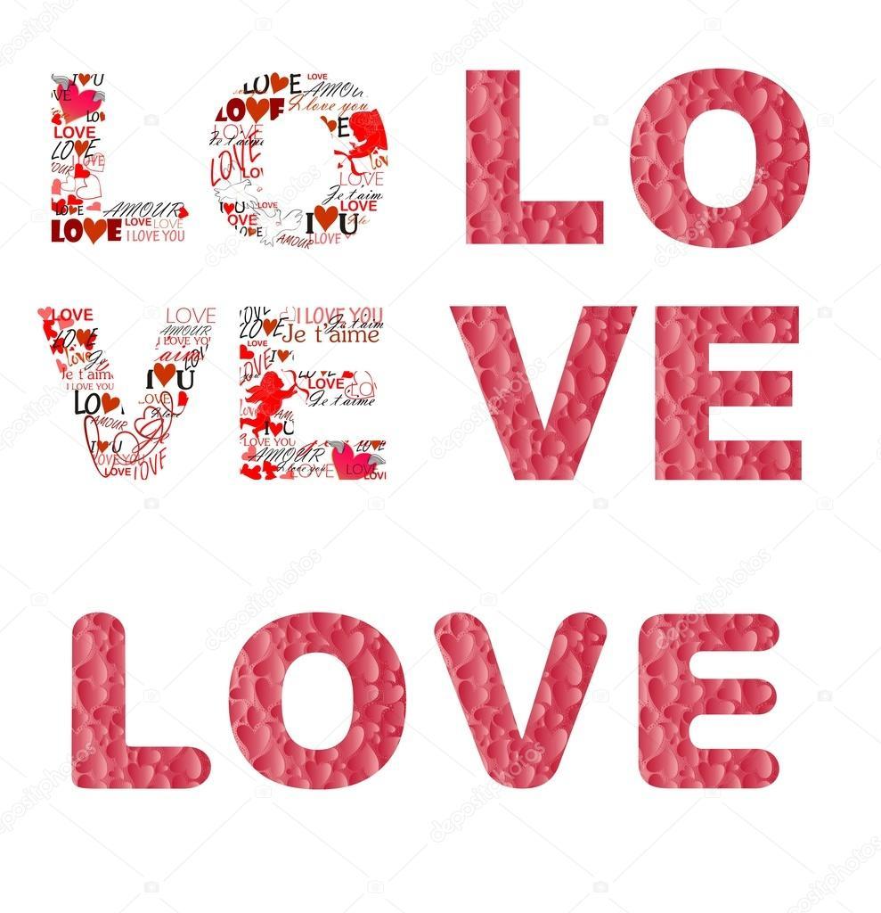 Imprimir Com Amor Para Dia Dos Namorados — Vetor De Stock