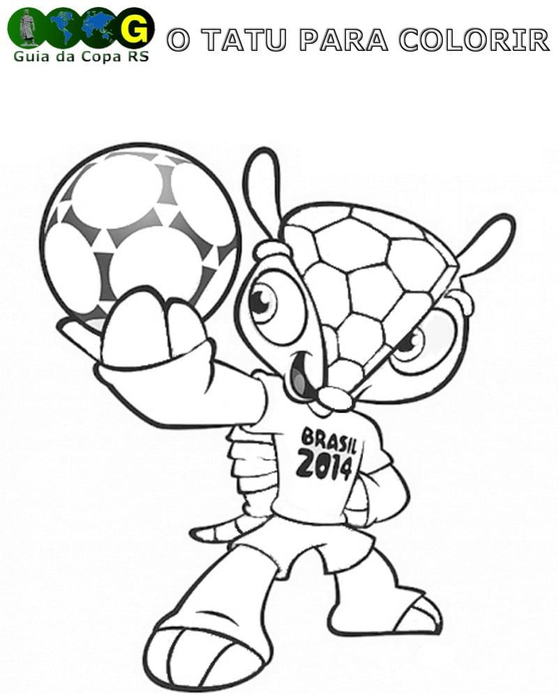 Copa Do Mundo 2014 Desenhos Para Colorir, Pintar E Imprimir