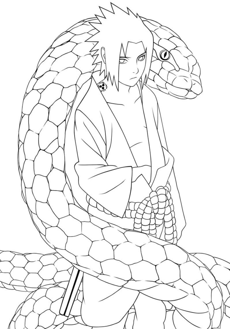 Desenho Para Colorir Do Naruto