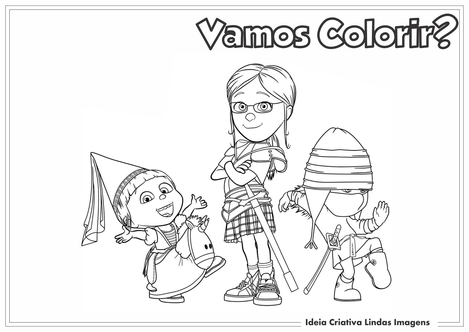 Desenhos Para Colorir Minions