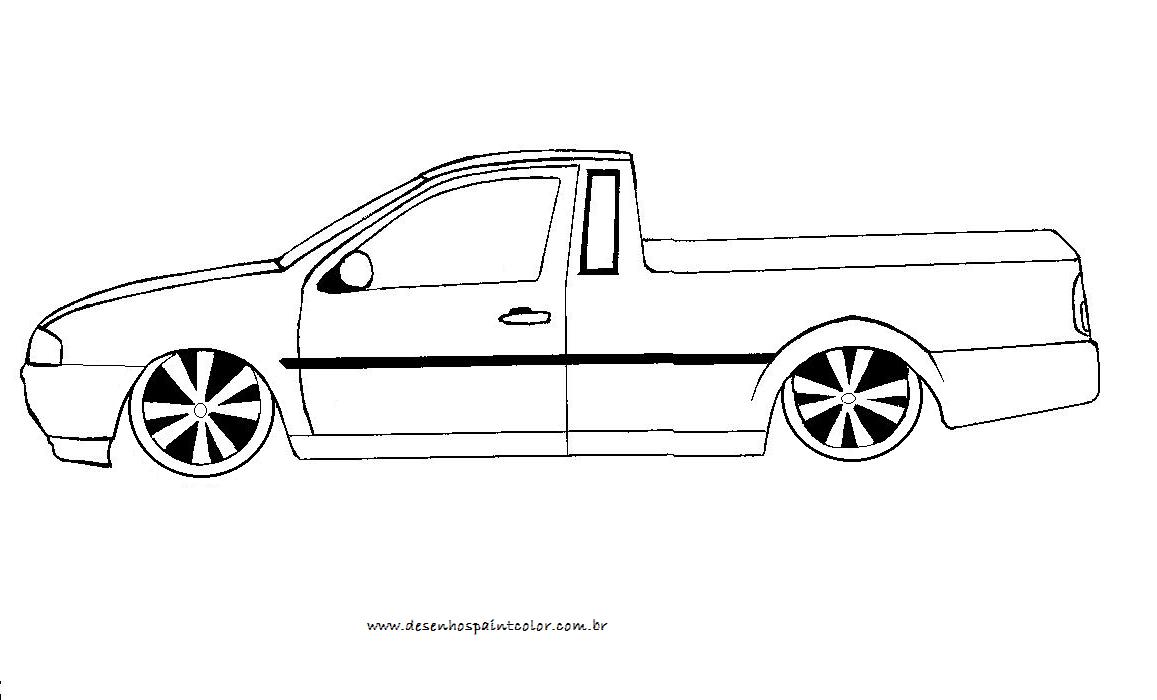 Desenho De Saveiro Rebaixada Para Colorir , Desenho De Carro
