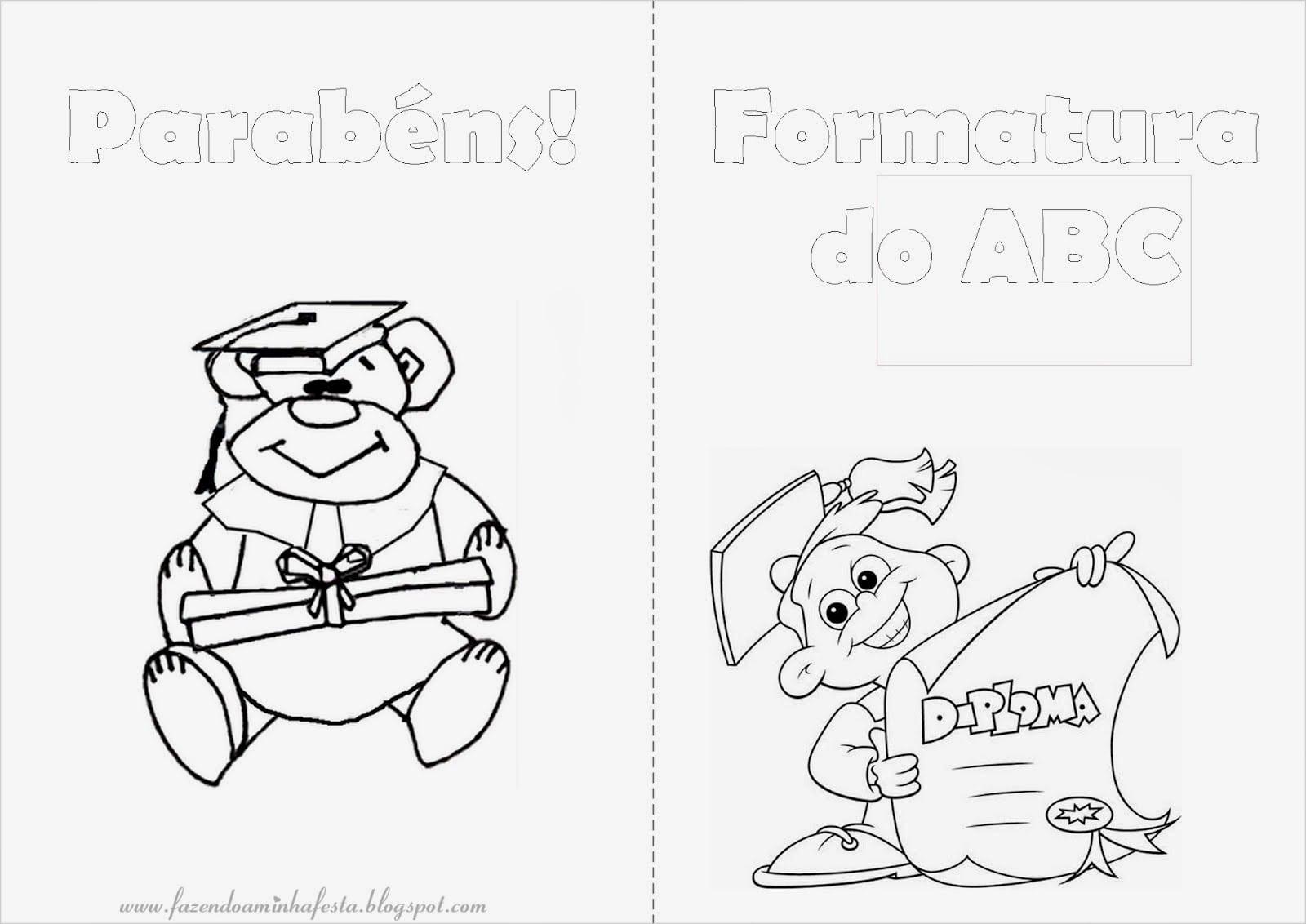 Educar X  Desenhos Para Colorir Formatura Abc