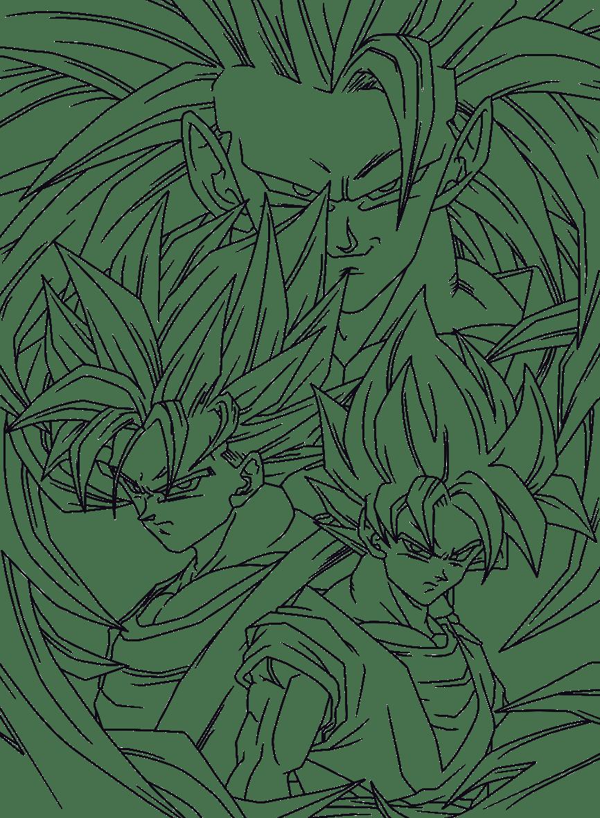 Desenhos Para Colorir Do Dragon Ball Z E Gt