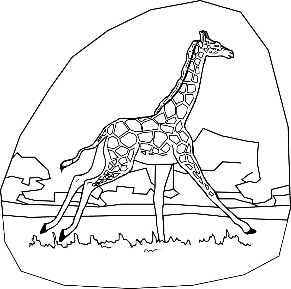 Desenhos De Girafas Para Colorir E Imprimir