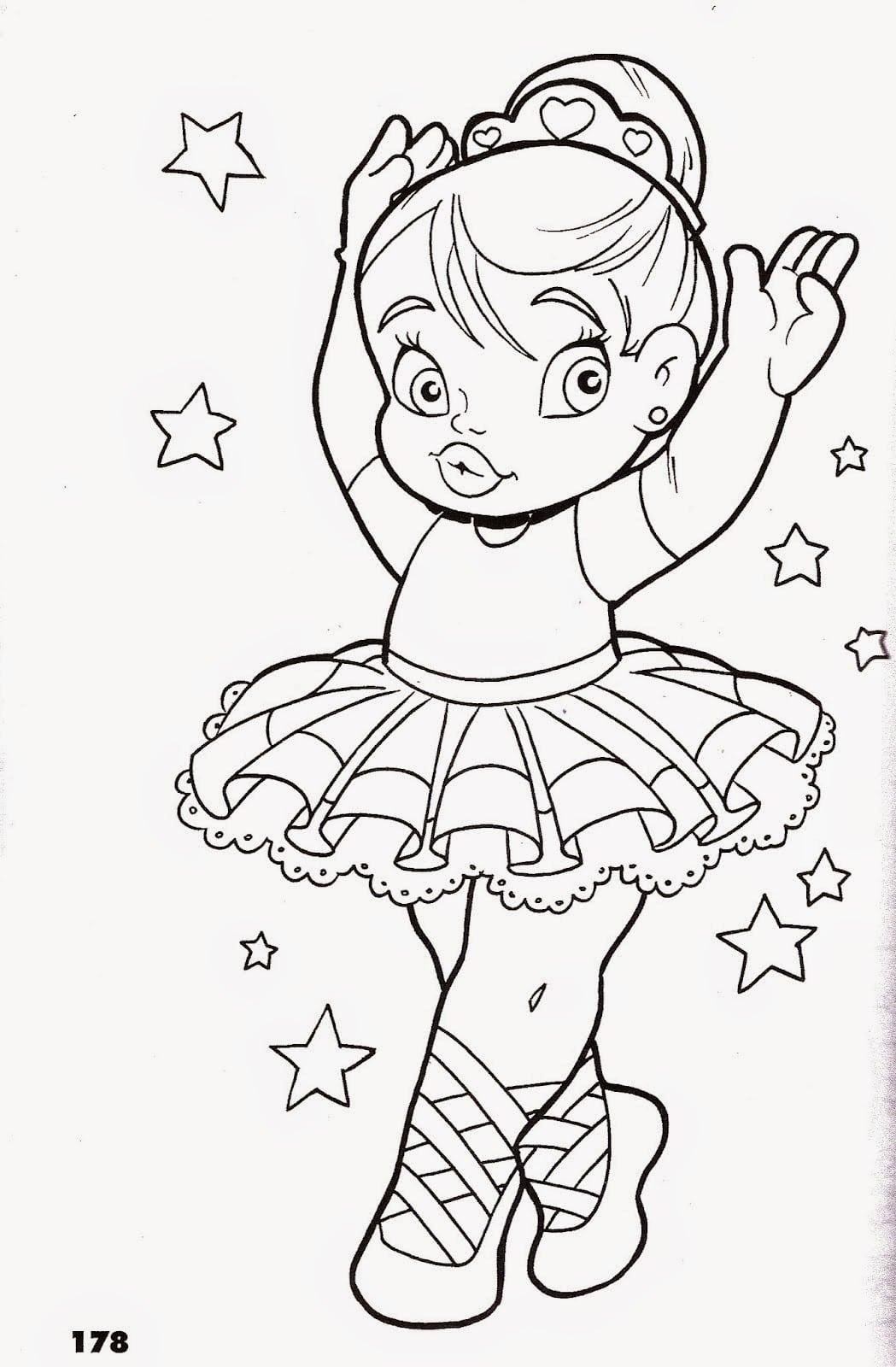 Desenhos Para Imprimir De Bailarinas