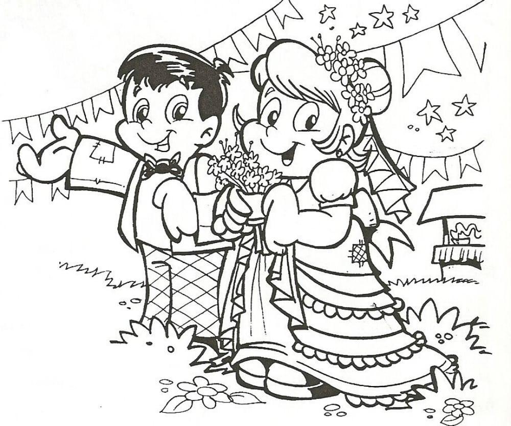 Desenhos Para Colorir Festa Junina