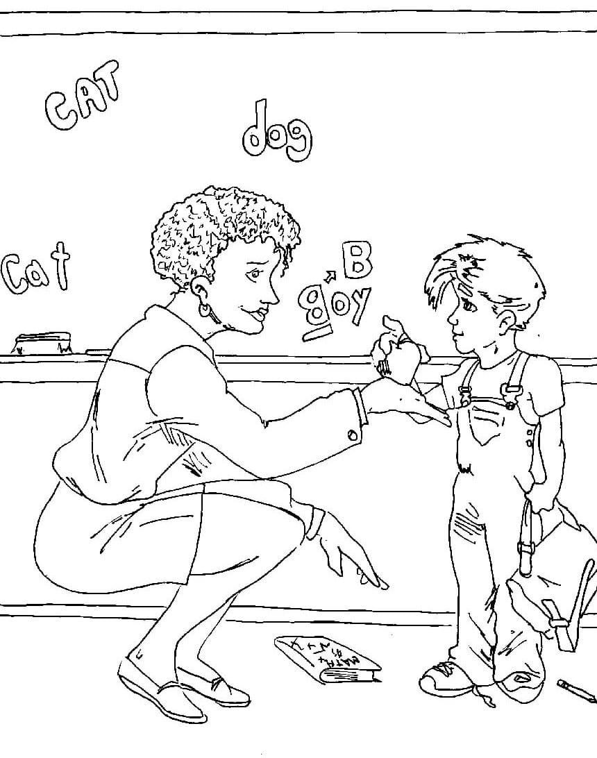 Desenhos Do Dia Do Professor Para Colorir