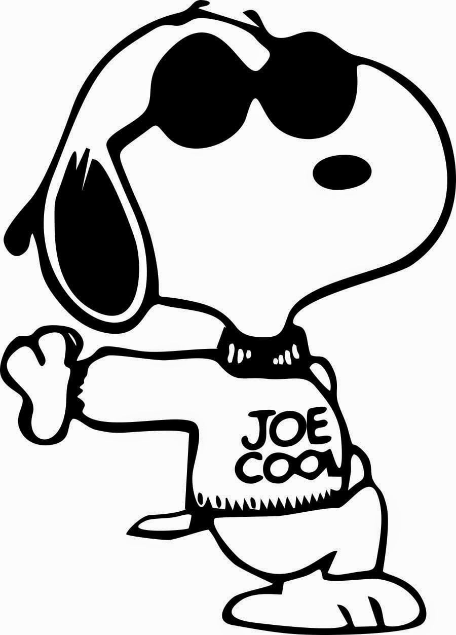 Awesome Snoopy Coloring Pages