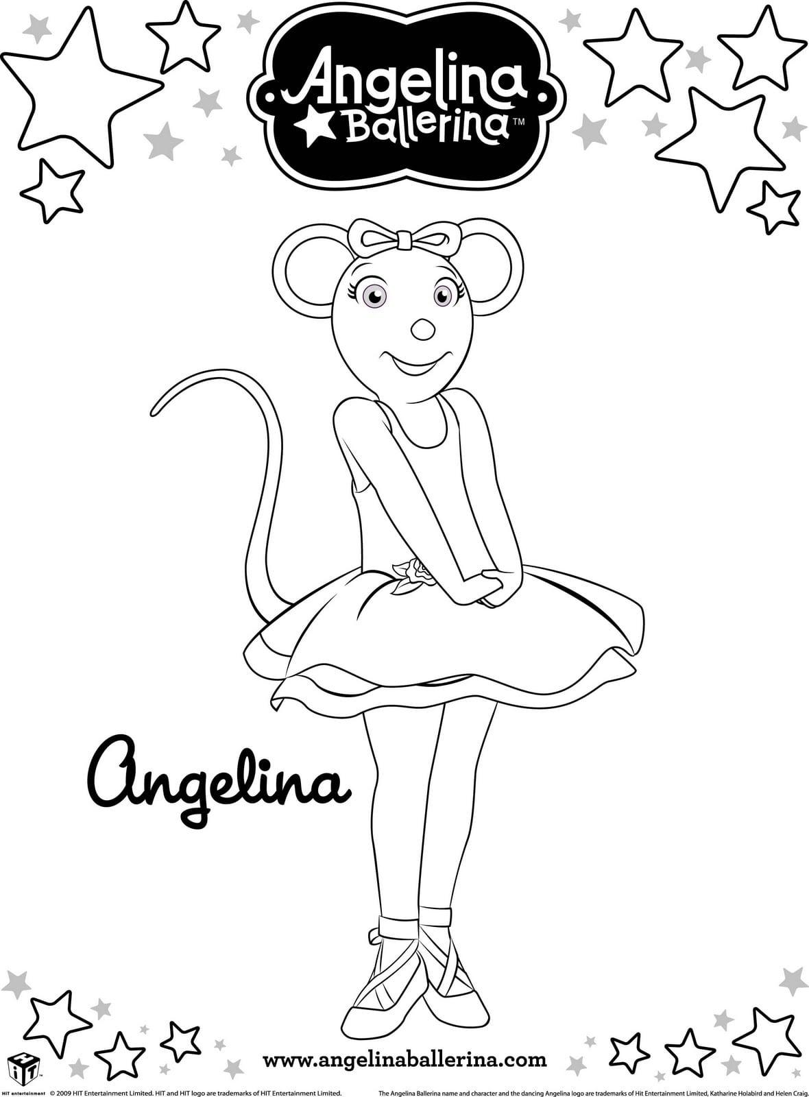 Desenhos Para Colorir Angelina Bailarina