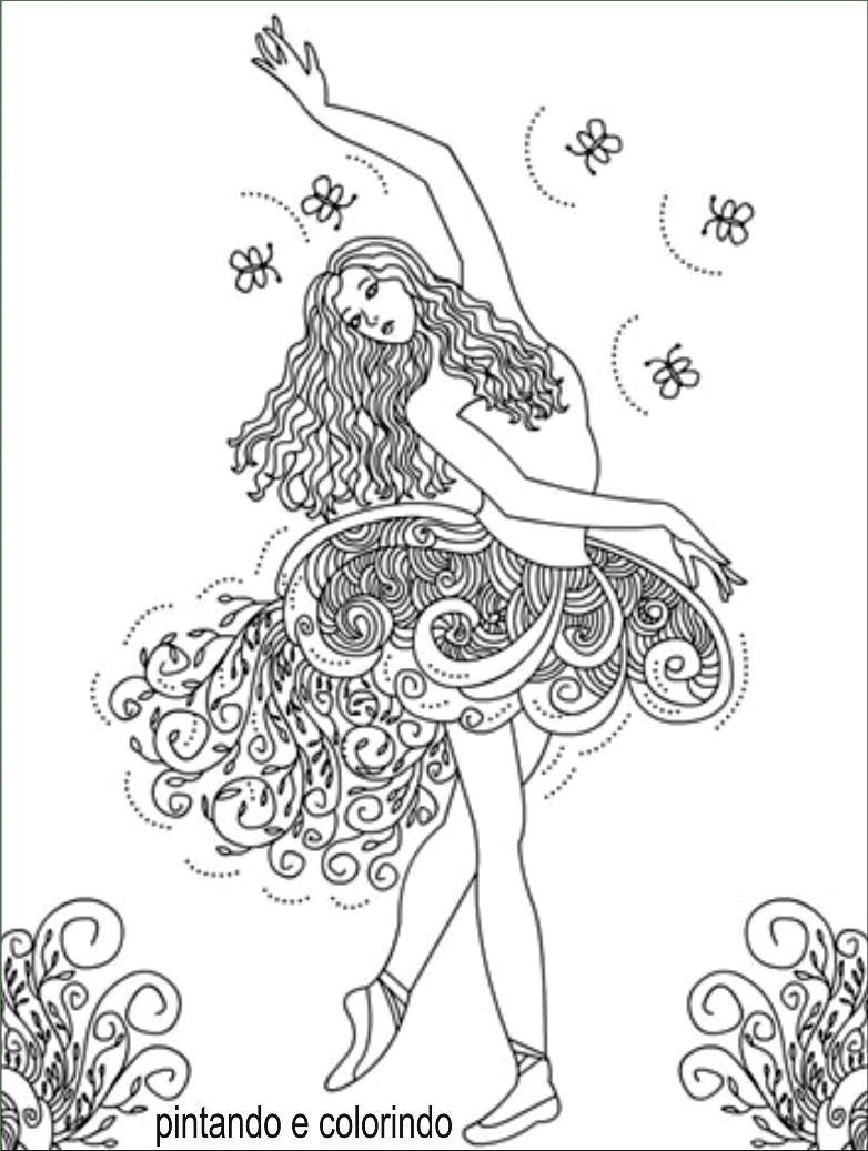 Desenhos Para Colorir Bailarina