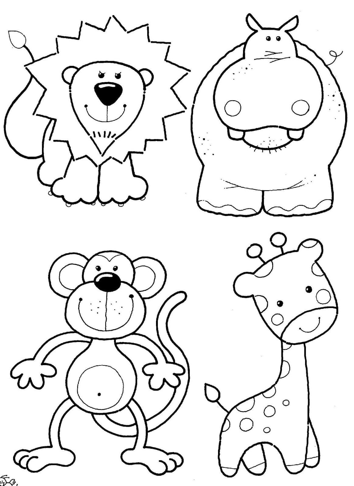 Para Colorir E Imprimir De Animais