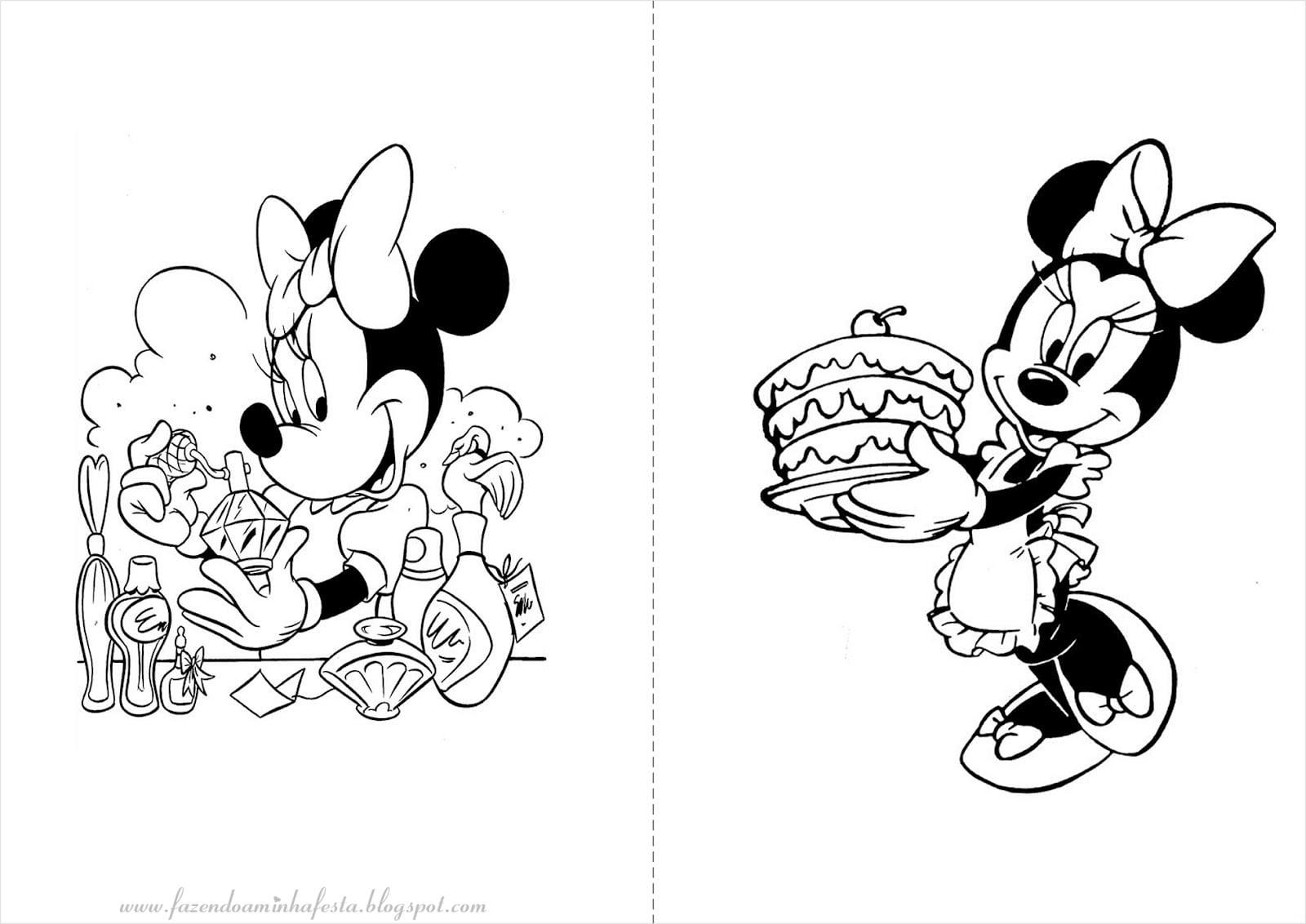 Figuras Da Minnie Para Colorir