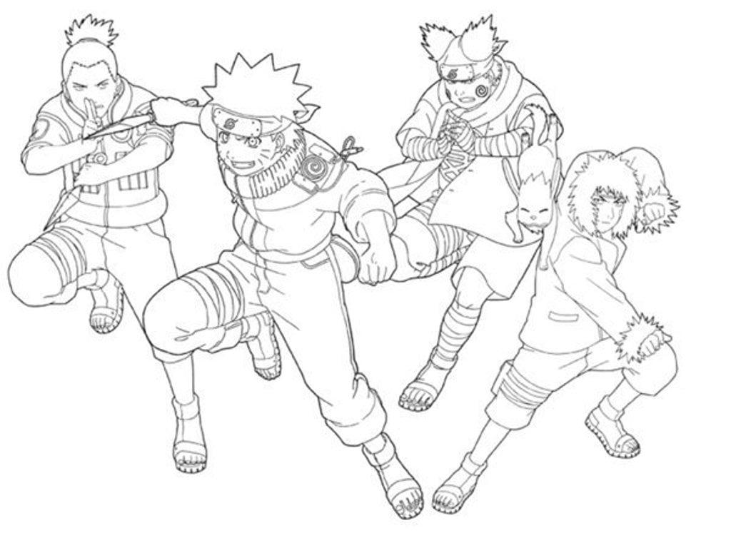Imagens Para Colorir De Naruto: Naruto Preto E Branco Para Imprimir