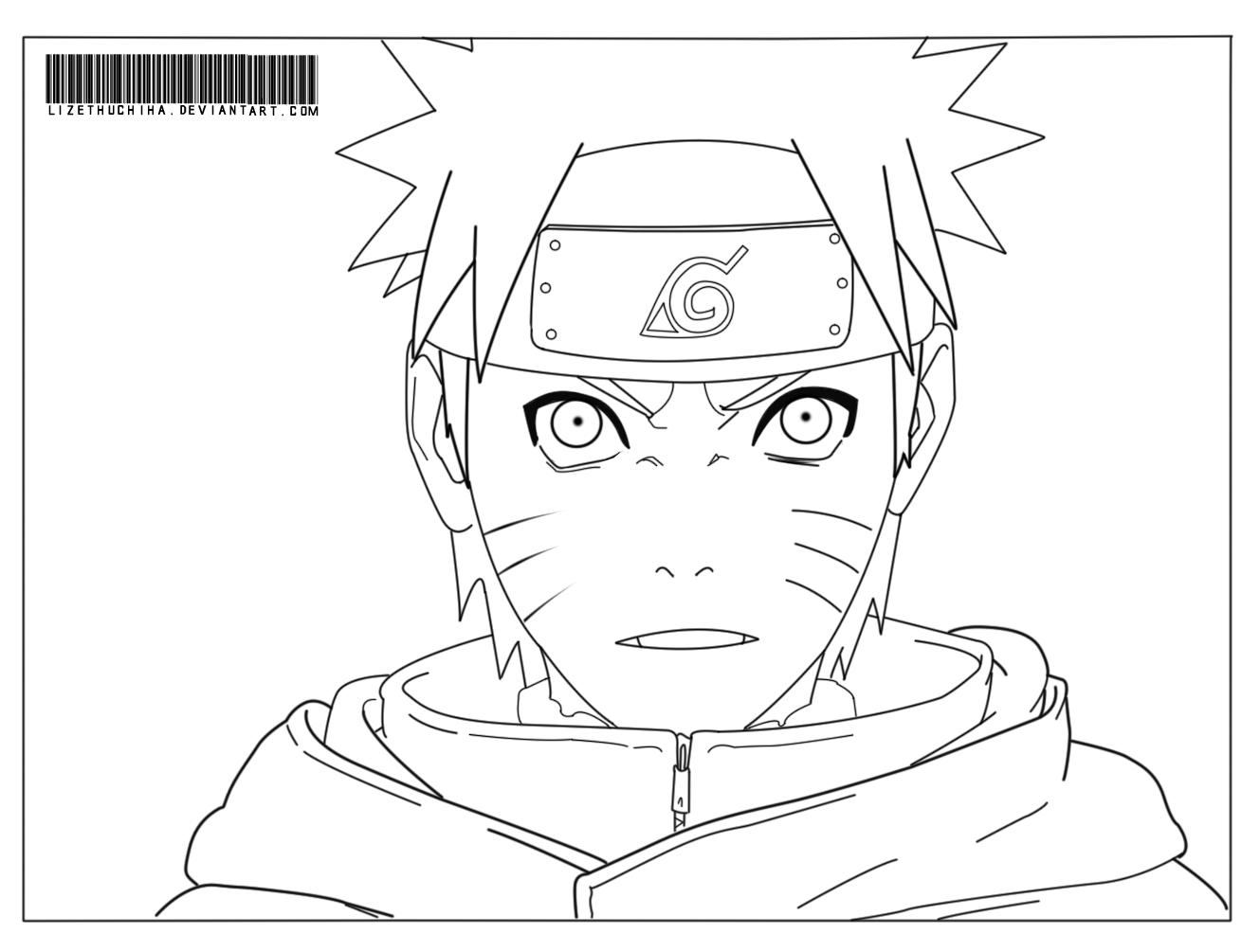 Naruto Preto E Branco Para Imprimir