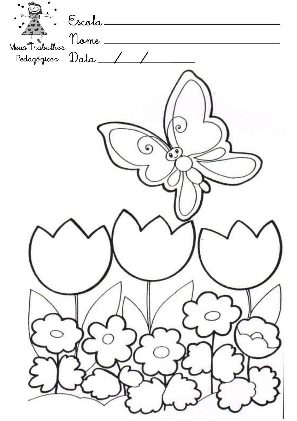 Desenho Primavera Para Imprimir