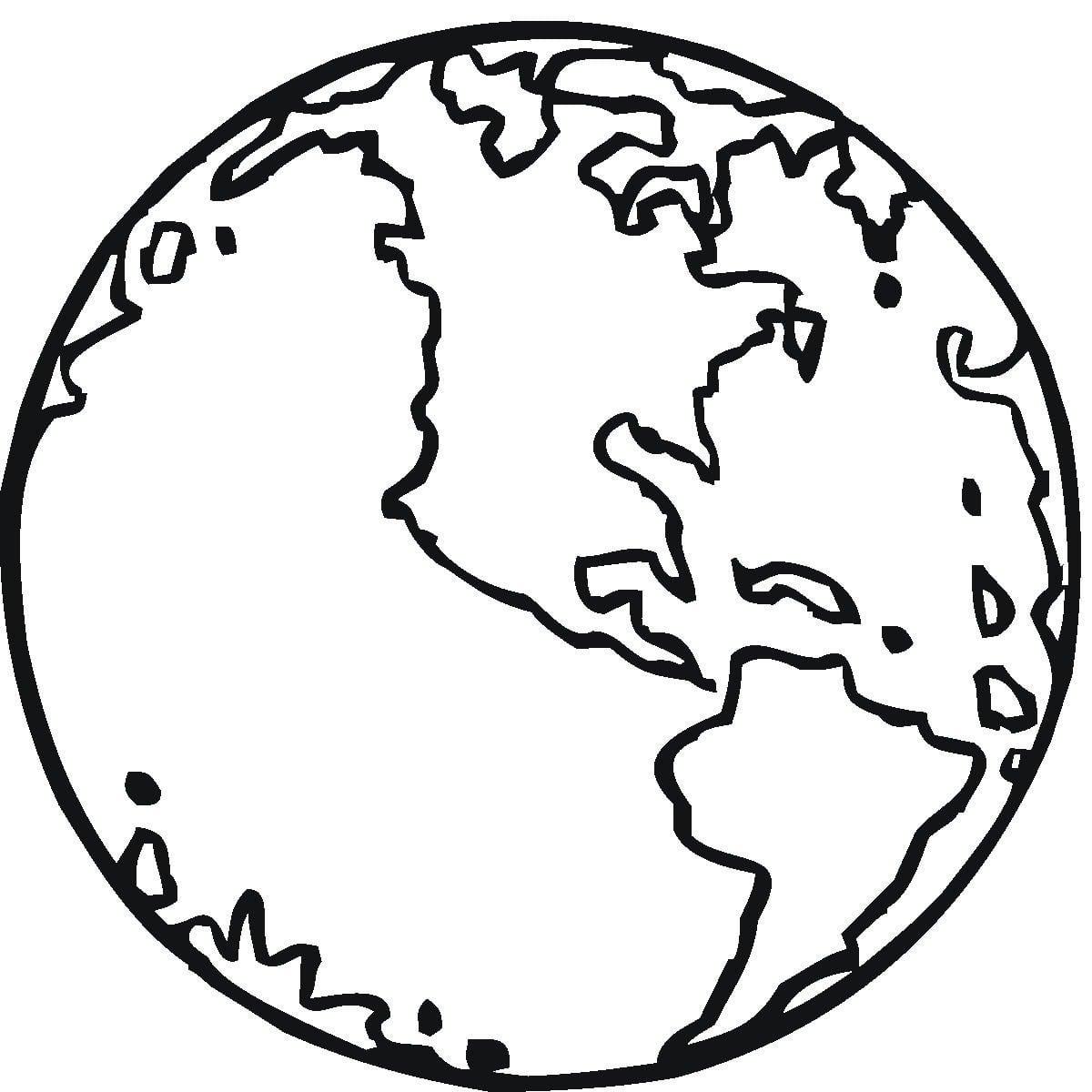 Desenho Do Planeta Terra Para Imprimir