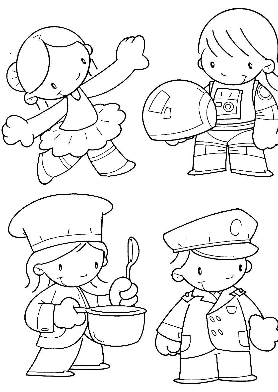 Desenhos Para Pintar Do Dia Do Trabalho