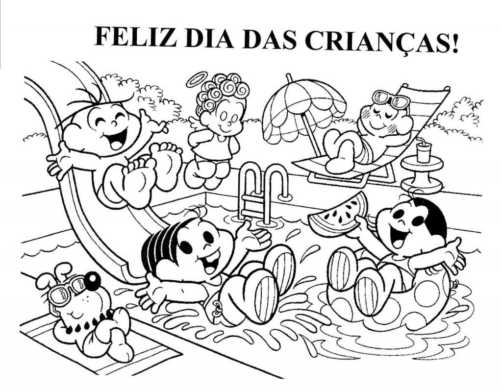 Dia Das Crianças Desenhos Infantis Para Colorir No Dia 12 De