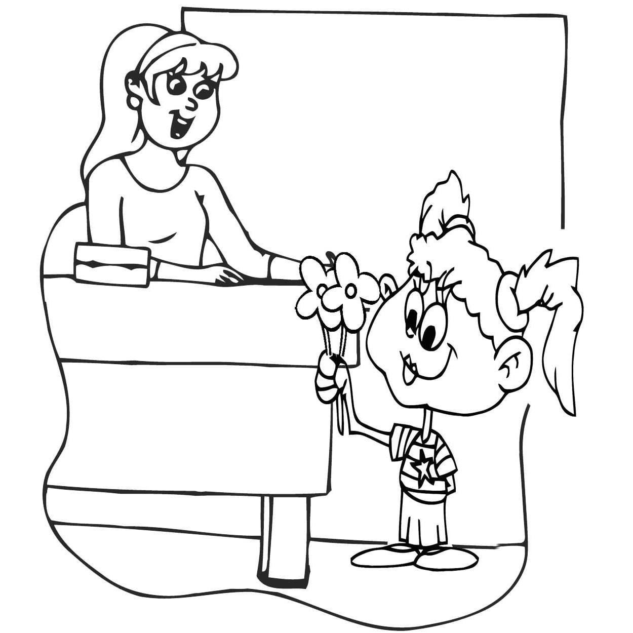 Desenho Do Dia Do Professor Para Colorir