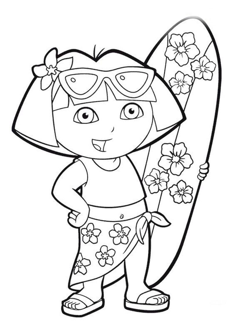 Desenhos De Dora Aventureira Para Colorir, Pintar, Imprimir! Dora