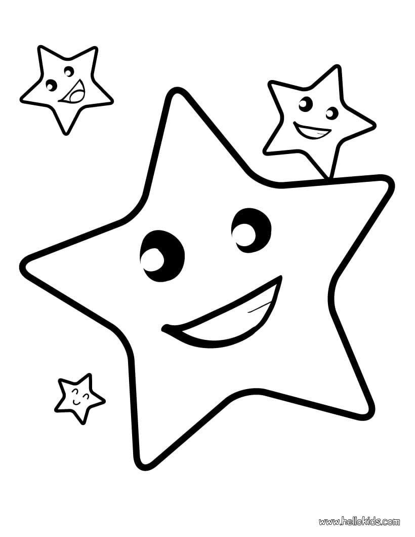 Imagens De Estrela Para Colorir