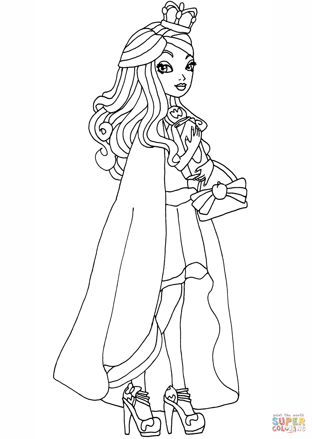 Ever After High Legacy Day Apple Coloring Page