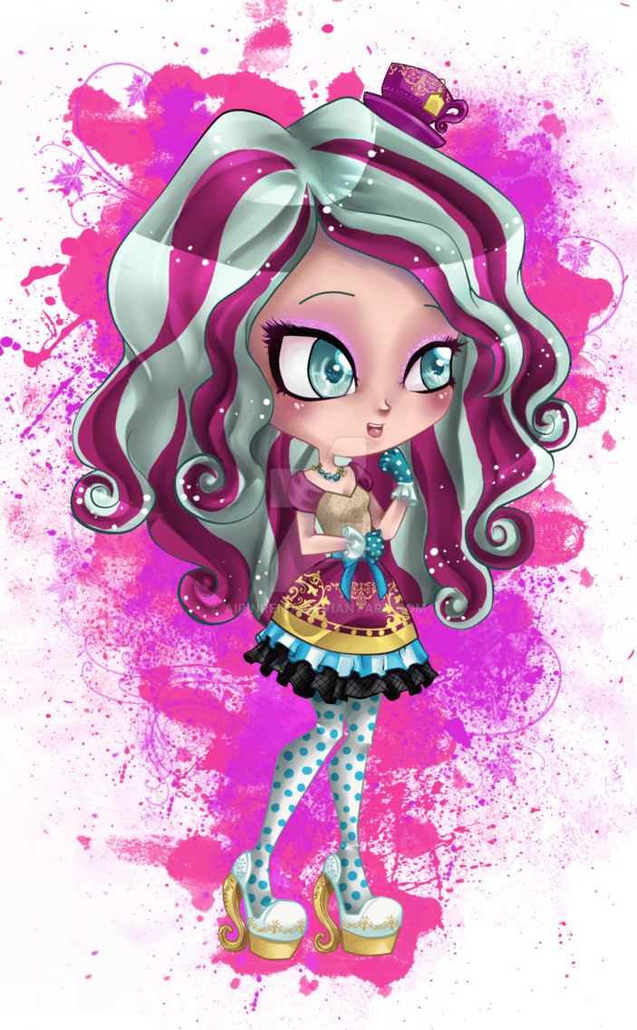 Ever After High   Chibi Madeline Hatter By Airinreika On