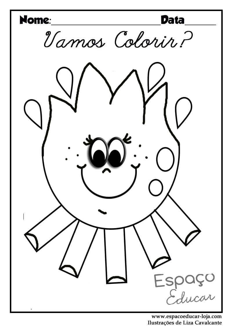 Desenhos De Fogueira Para Colorir, Pintar, Imprimir! Fogueira De