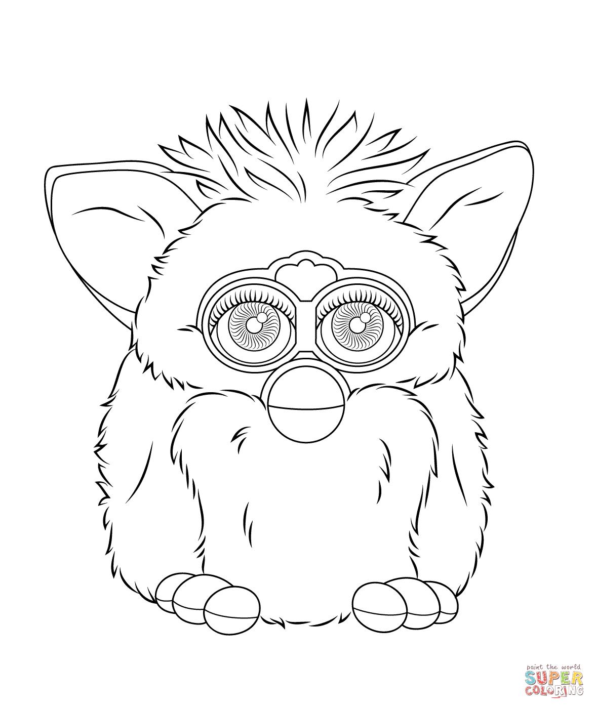 Desenho De Furby Para Colorir