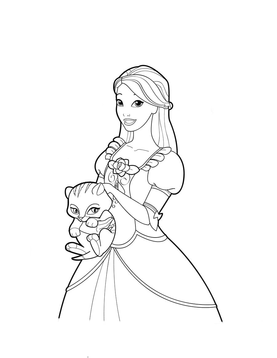 Desenho De Genevieve, A Barbie Bailarina Para Colorir