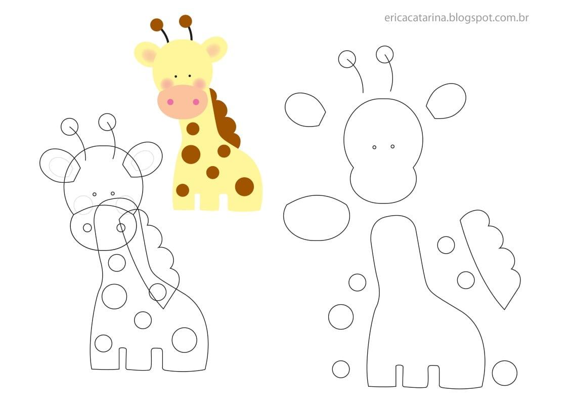 Como Fazer Safari Baby De Feltro – Moldes – Inspire Sua Festa ®