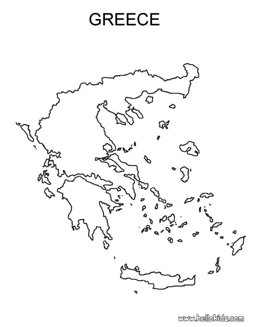Desenhos Para Colorir De Desenho Do Mapa Da Grécia Para Colorir
