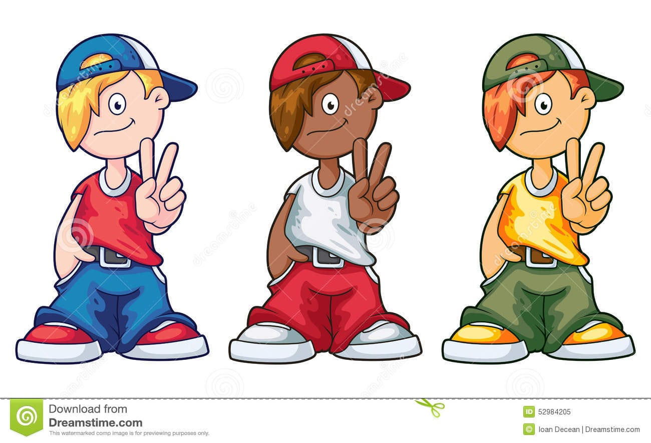 Desenhos Animados Dos Meninos Do Hip