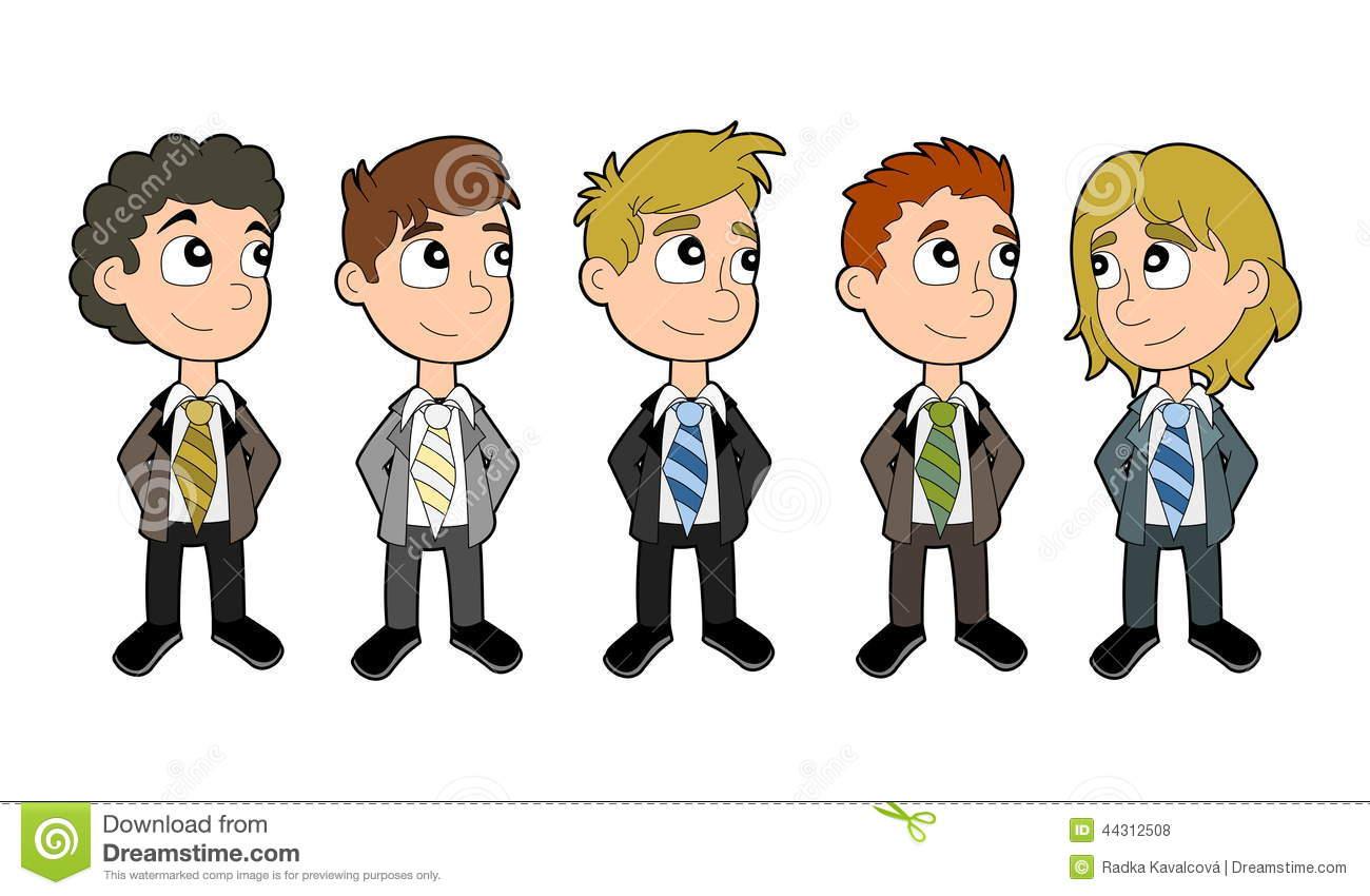 Grupo Dos Desenhos Animados Dos Meninos Do Negócio Ilustração