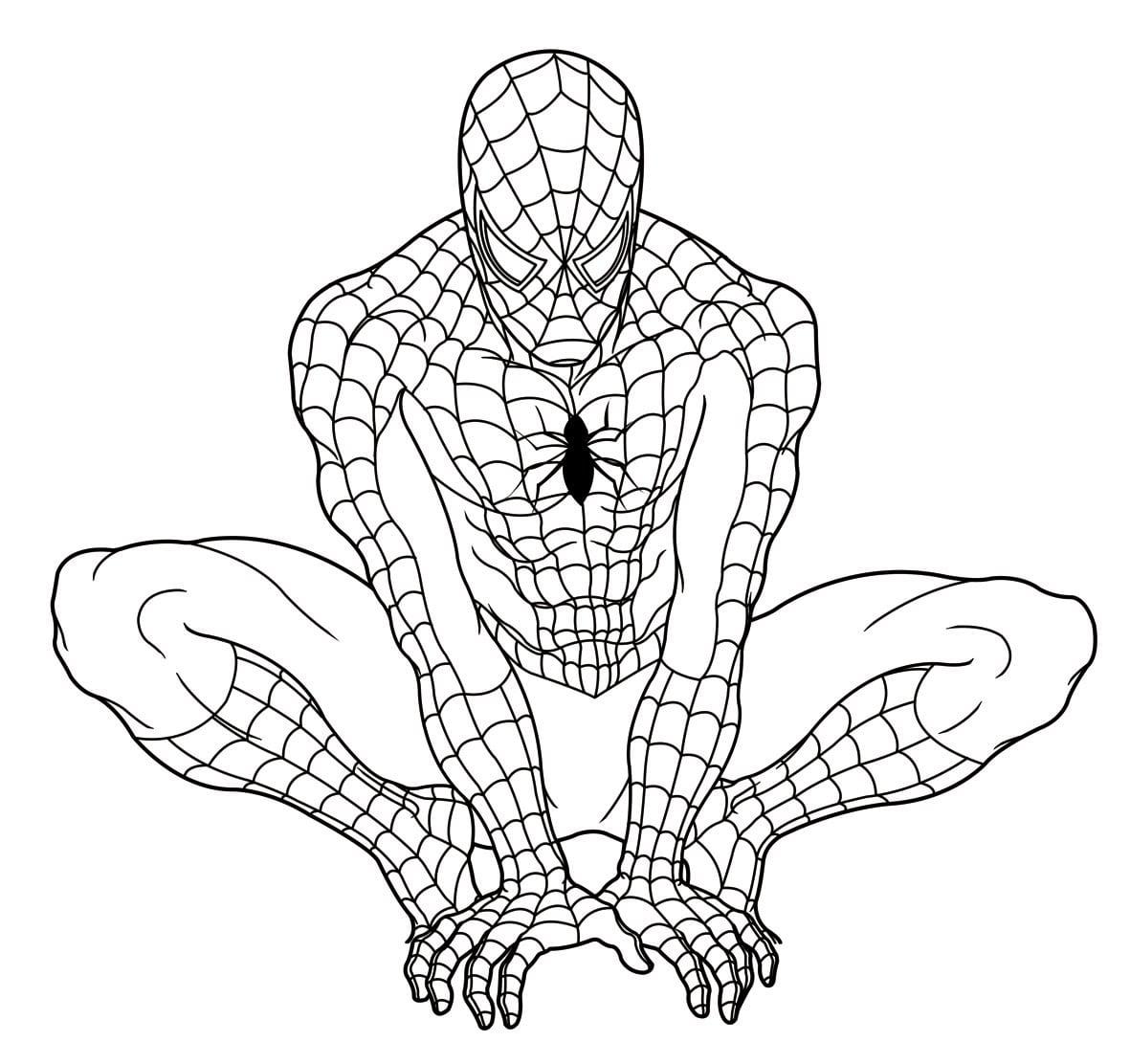 desenhos do espetacular homem aranha para imprimir