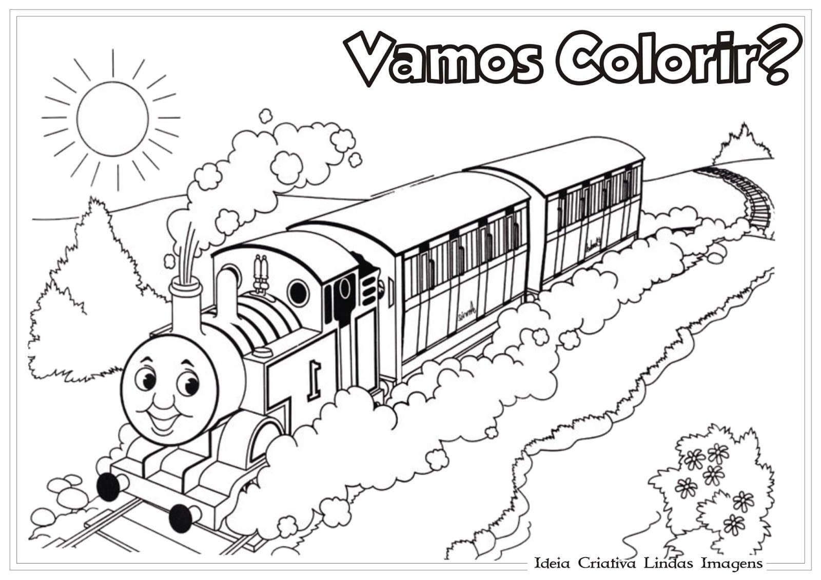 Thomas E Seus Amigos Para Colorir