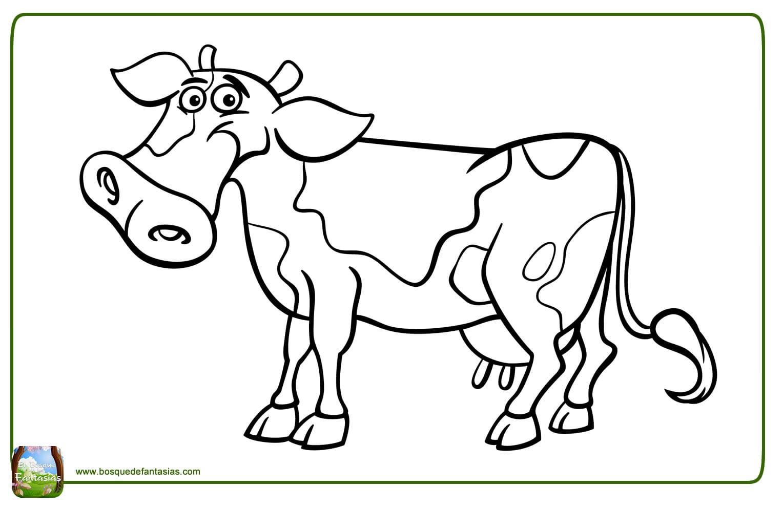 99 Dibujos De Vacas ® Divertidas Y Graciosas Vacas Para Colorear