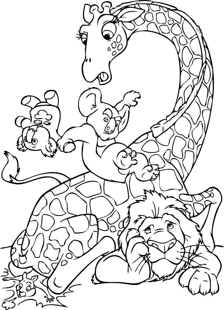 Imagens O Selvagem Disney Para Colorir
