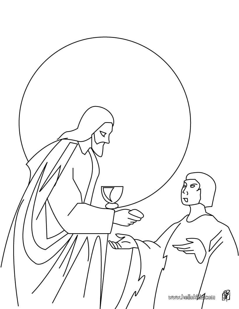 Desenhos Para Colorir De Desenho Do Jesus Carrehando A Cruz Para